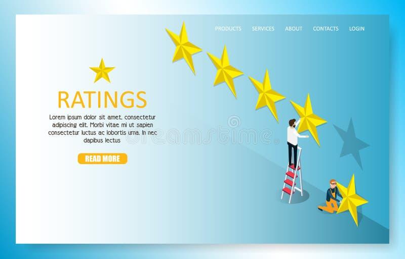 Plantilla del vector del sitio web de la página del aterrizaje del grado de la estrella libre illustration