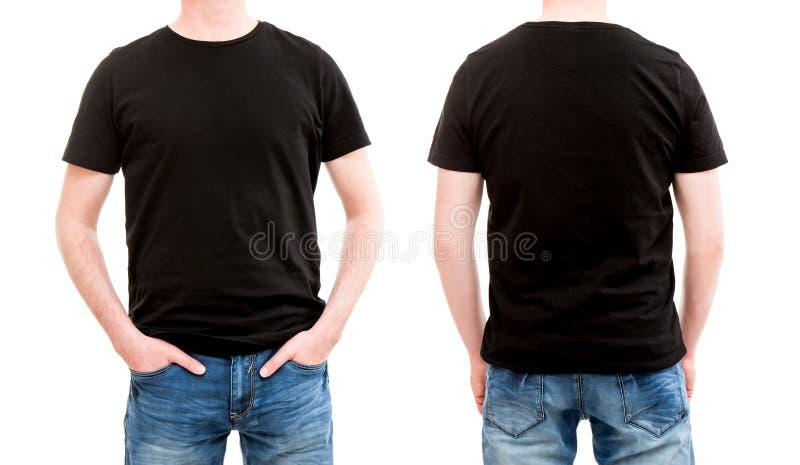 Plantilla delantera y trasera de la camiseta de la visión imagenes de archivo