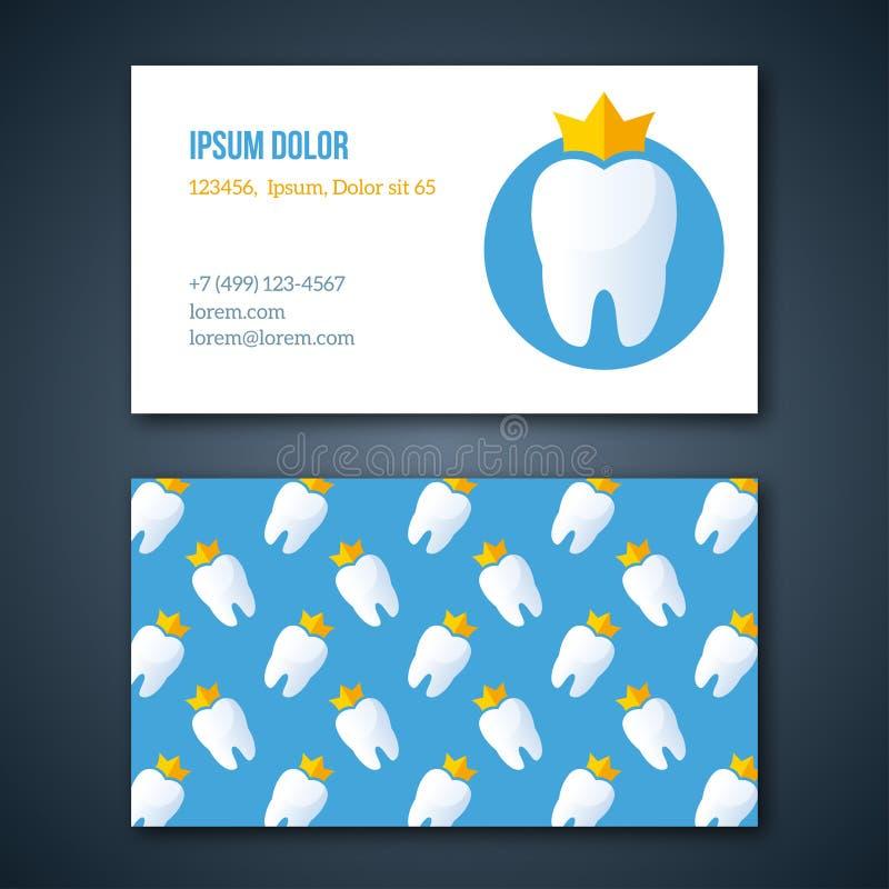 Plantilla dental de la identidad corporativa de la clínica stock de ilustración