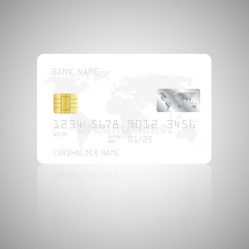 Plantilla detallada realista de la tarjeta de crédito ilustración del vector
