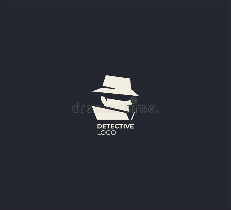 Plantilla detective del diseño del logotipo del espía fotos de archivo