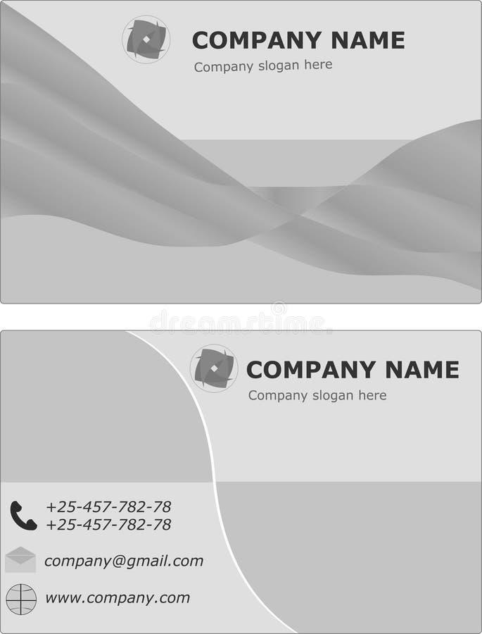 Plantilla determinada de la tarjeta de visita, folleto de la visita Color verde y blanco Ilustración del vector ilustración del vector