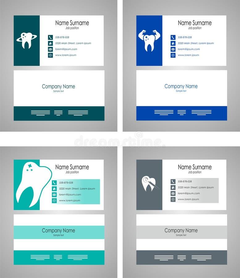Plantilla determinada dental de la tarjeta de visita - ejemplo del vector ilustración del vector