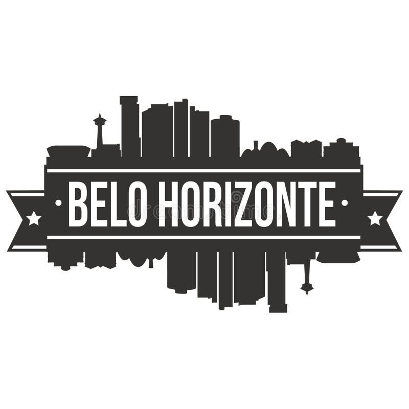 Plantilla Editable de la silueta de Art Design Skyline Flat City del vector del icono de Belo Horizonte el Brasil Suramérica libre illustration