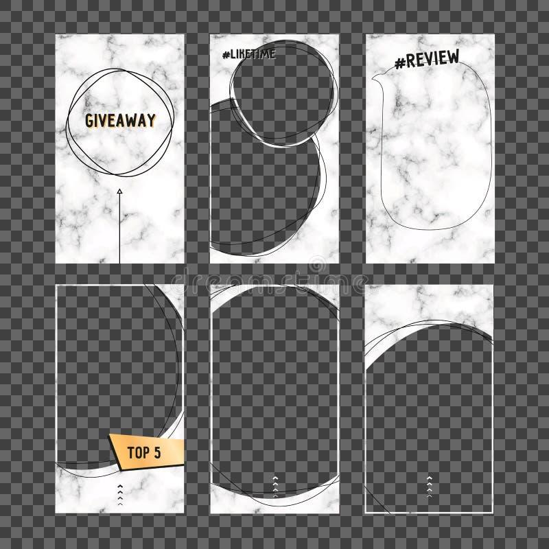 Plantilla Editable de las historias streaming Maqueta para la foto aislada en fondo transparente Ejemplo del vector aislado en tr libre illustration