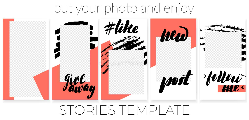 Plantilla editable de moda para social ilustración del vector