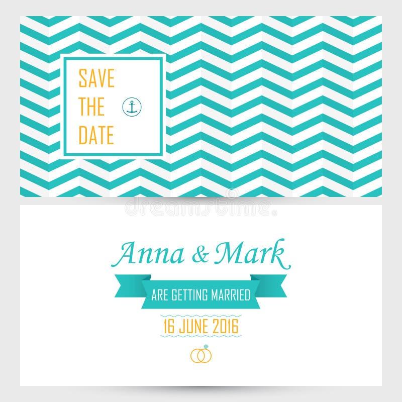 Plantilla editable, fondo VE de la invitación de la invitación de boda del modelo stock de ilustración