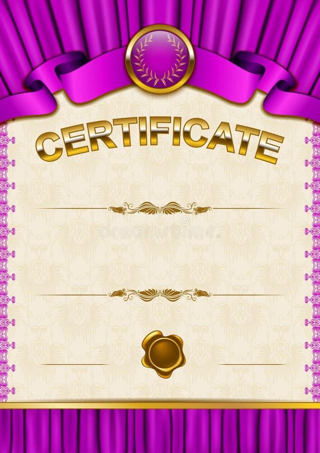 Download Plantilla Elegante Del Certificado, Diploma Ilustración del Vector - Ilustración de cupón, decoración: 42440204