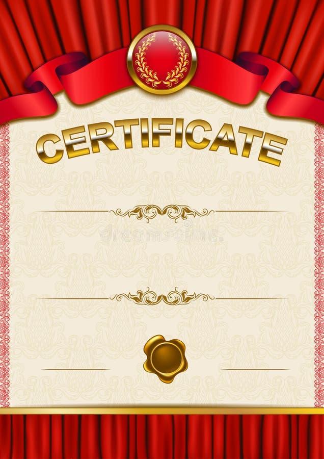 Download Plantilla Elegante Del Certificado, Diploma Ilustración del Vector - Ilustración de documento, diploma: 42440210