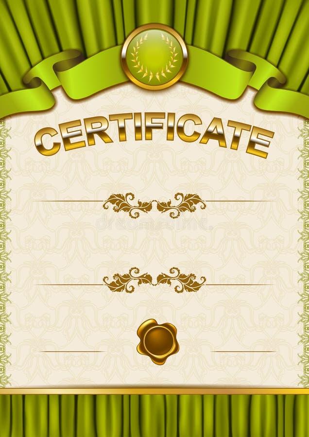 Download Plantilla Elegante Del Certificado, Diploma Ilustración del Vector - Ilustración de medalla, deco: 42440213