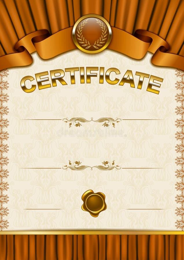 Download Plantilla Elegante Del Certificado, Diploma Ilustración del Vector - Ilustración de gráfico, cortina: 42440228
