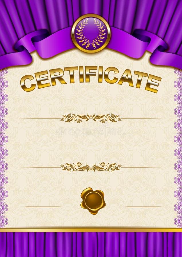 Download Plantilla Elegante Del Certificado, Diploma Ilustración del Vector - Ilustración de decorativo, floral: 42440252