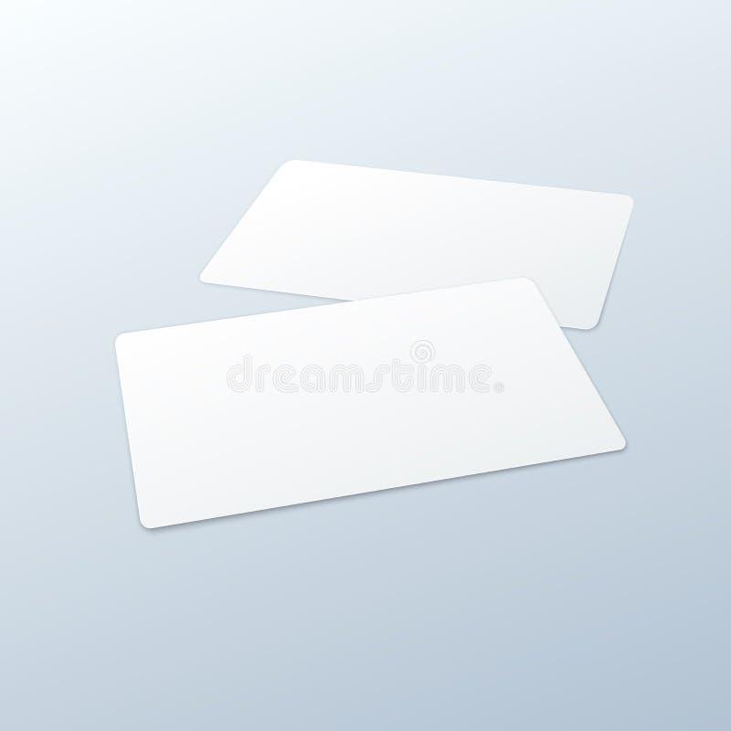 Plantilla en blanco de la maqueta de las tarjetas de visita libre illustration
