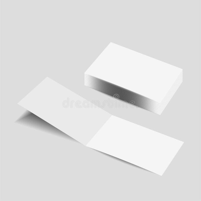 Plantilla en blanco de la maqueta del folleto del paisaje ilustración del vector