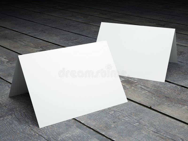 Plantilla en blanco de la postal doblada ilustración del vector