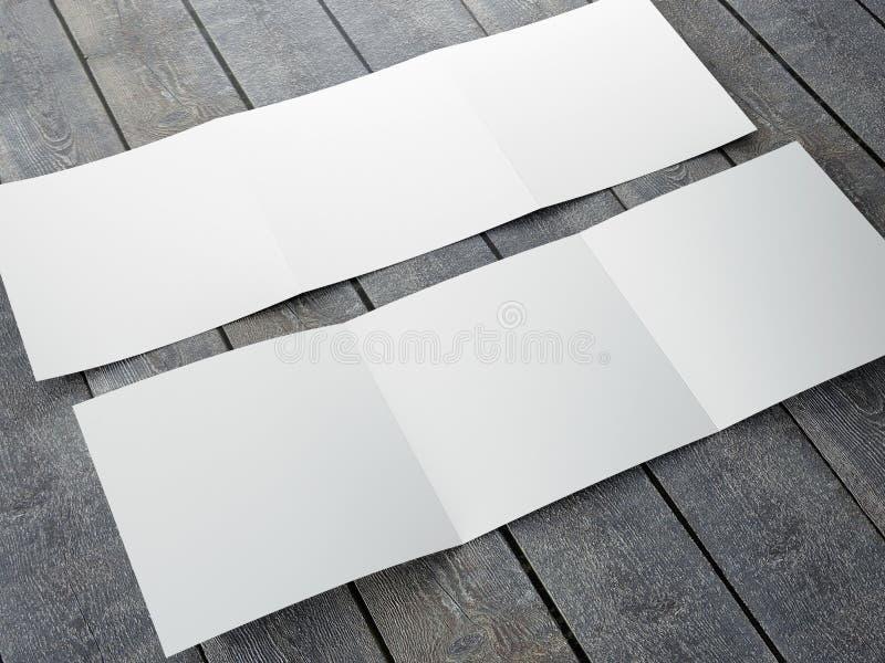 Plantilla en blanco del folleto cuadrado triple stock de ilustración
