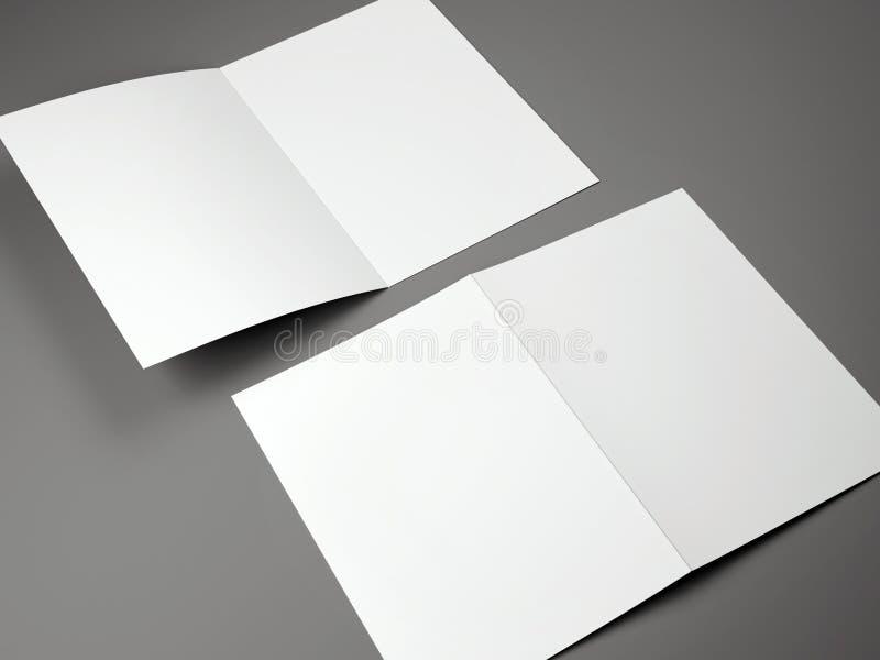 Plantilla en blanco del tamaño doblado del folleto A4 ilustración del vector