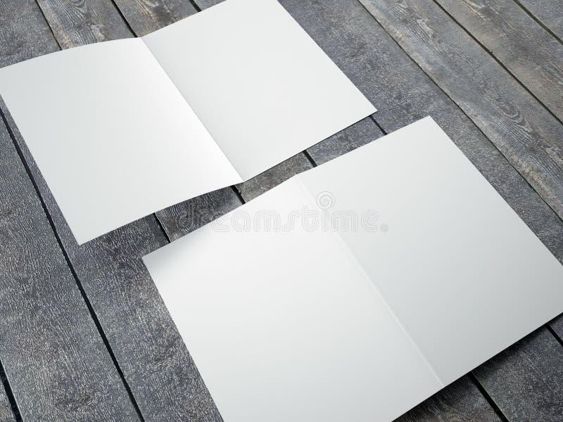 Plantilla en blanco del tamaño doblado del folleto A4 libre illustration
