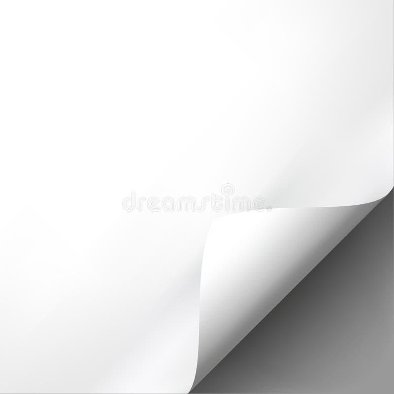 Plantilla encrespada de la maqueta de la esquina del Libro Blanco libre illustration