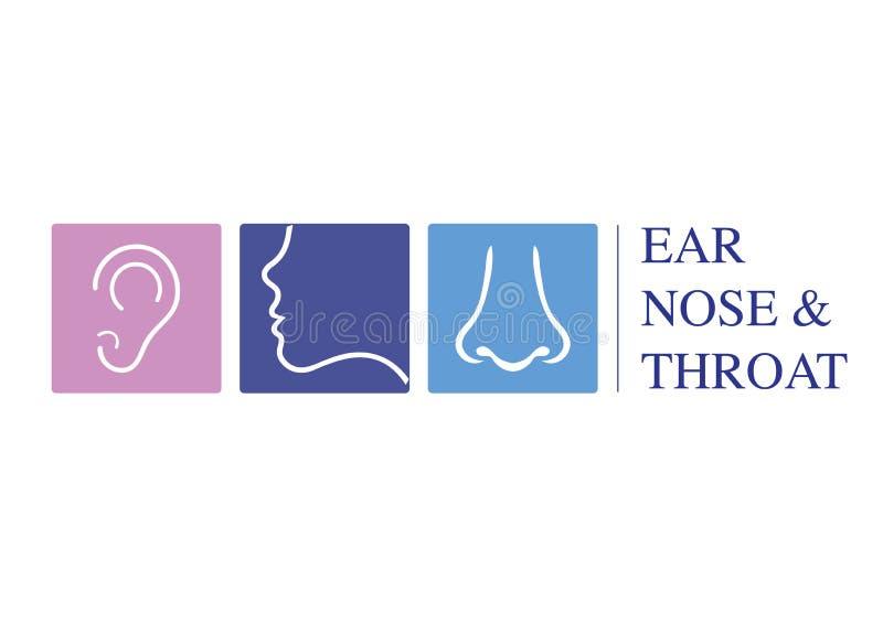Plantilla ENT del logotipo Vaya al oído, nariz, especialistas del doctor de la garganta Logo Concept línea icono del vector Movim libre illustration