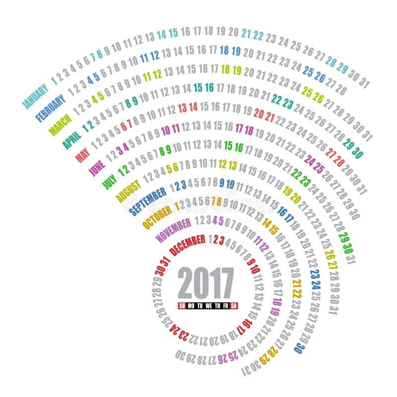 plantilla espiral de 2017 calendarios fotos de archivo libres de regalías