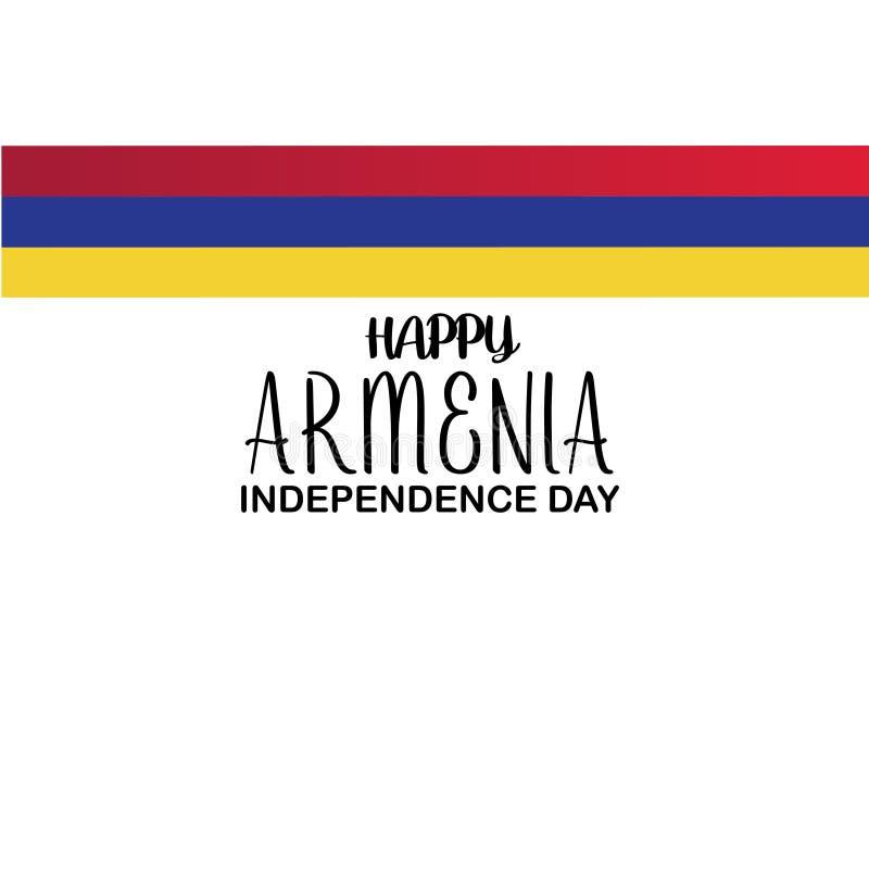 Plantilla feliz del vector del Día de la Independencia de Armenia Diseño para la bandera, las tarjetas de felicitación o la impre stock de ilustración