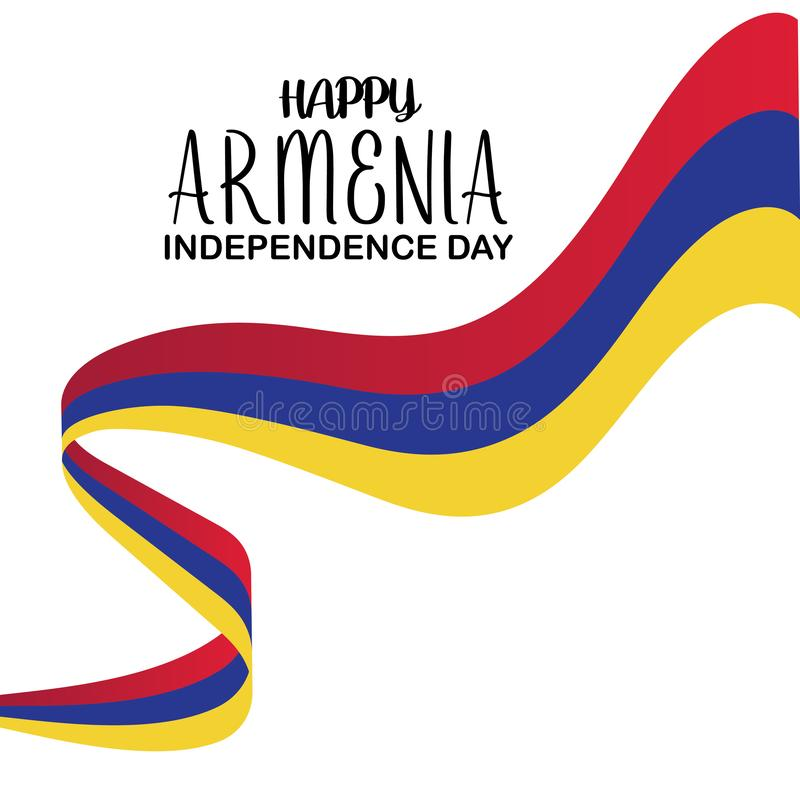Plantilla feliz del vector del D?a de la Independencia de Armenia Dise?o para la bandera, las tarjetas de felicitaci?n o la impre libre illustration