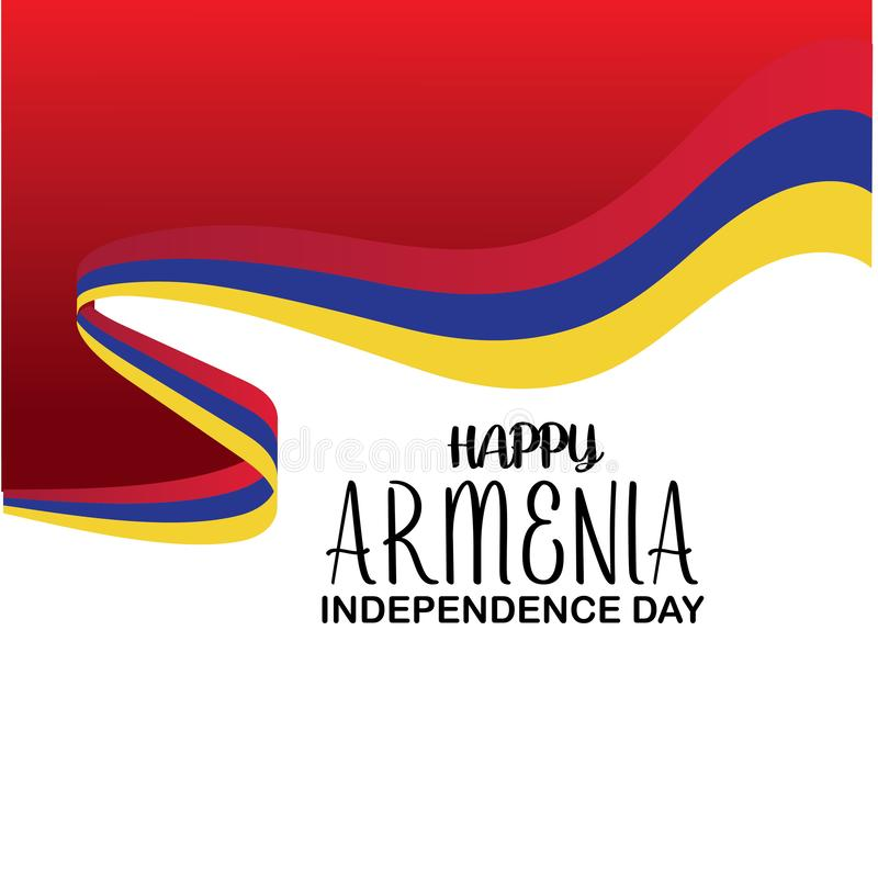 Plantilla feliz del vector del D?a de la Independencia de Armenia Dise?o para la bandera, las tarjetas de felicitaci?n o la impre stock de ilustración