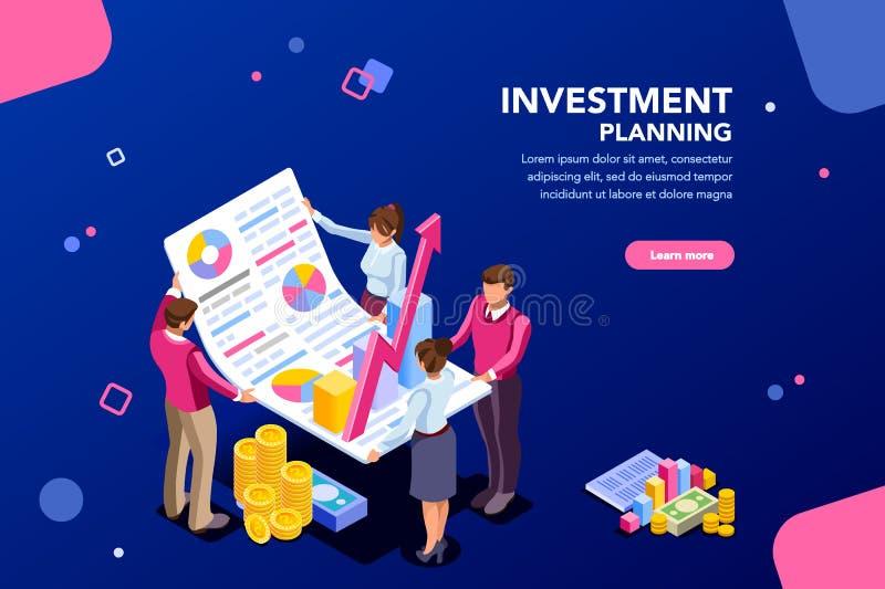 Plantilla financiera del crecimiento para el sitio web ilustración del vector