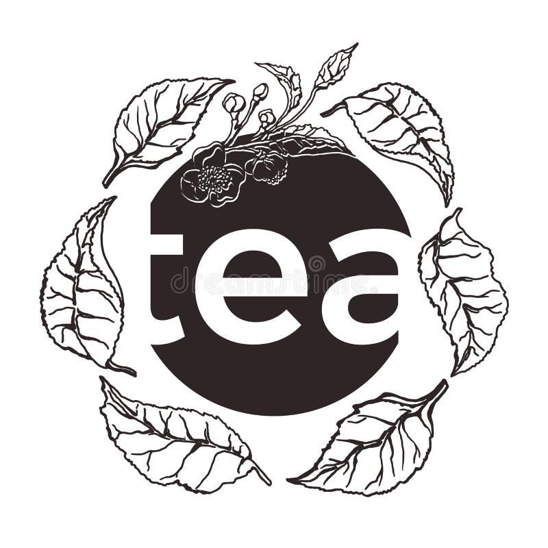 Plantilla floral con la hoja de té País del movimiento del color de los busines del Internet del Web del recorrido del planeta de libre illustration