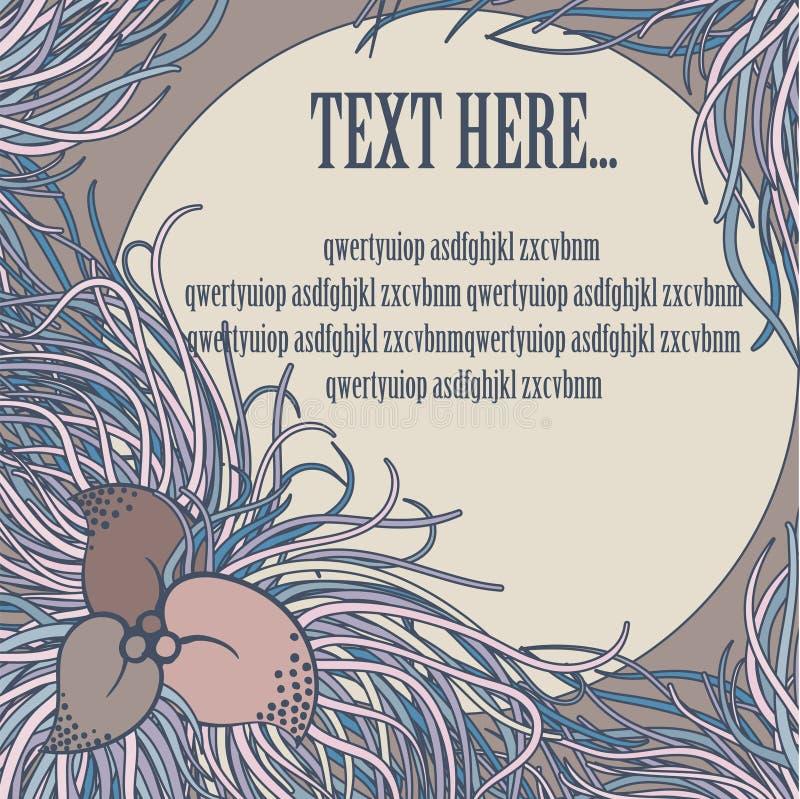 Download Plantilla floral de Vinage ilustración del vector. Ilustración de floral - 42446401