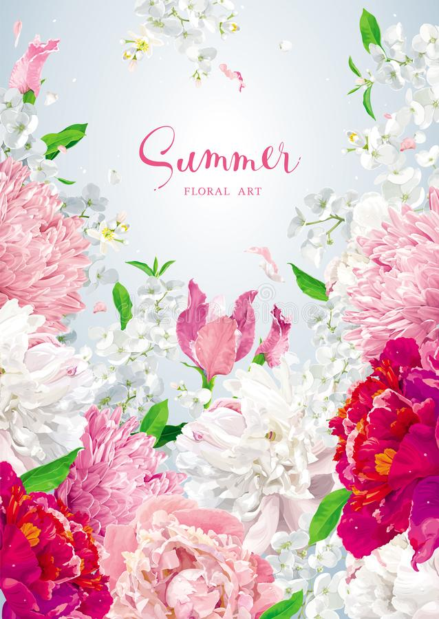 Plantilla floral del diseño de la cubierta del folleto del vector stock de ilustración