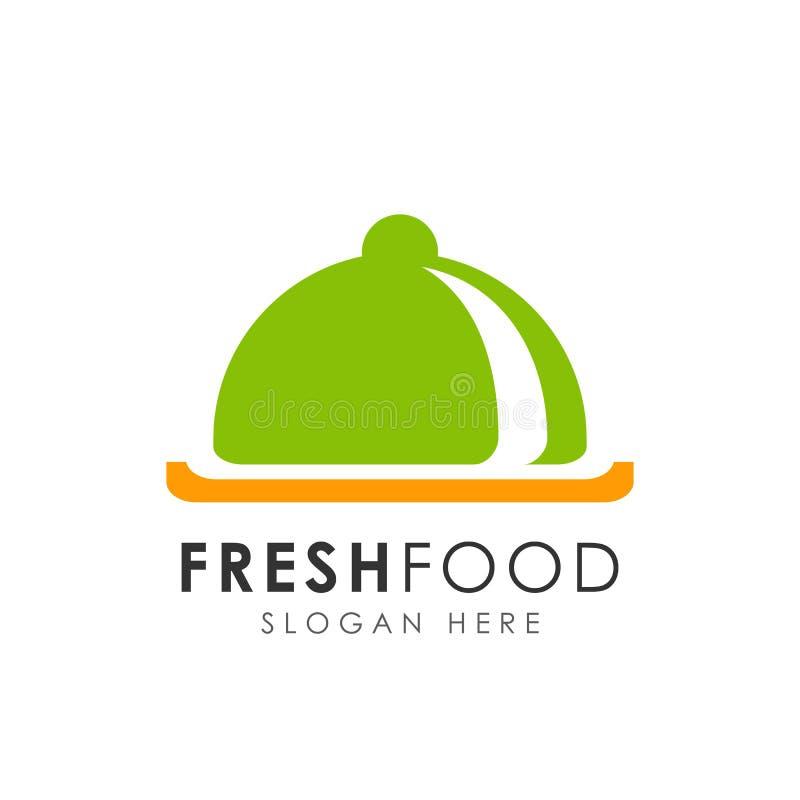 plantilla fresca del diseño del logotipo del restaurante diseño de la muestra del icono de la comida fresca ilustración del vector