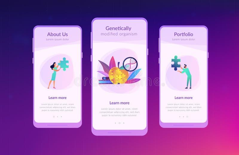 Plantilla genético modificada del interfaz del app del organismo libre illustration