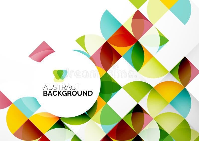 Plantilla geométrica abstracta del negocio stock de ilustración