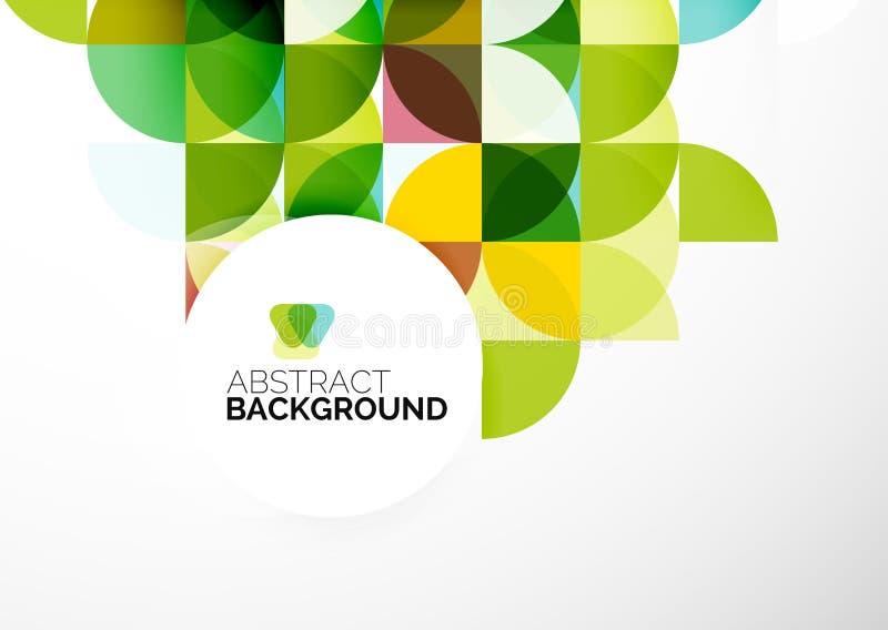 Plantilla geométrica abstracta del negocio ilustración del vector
