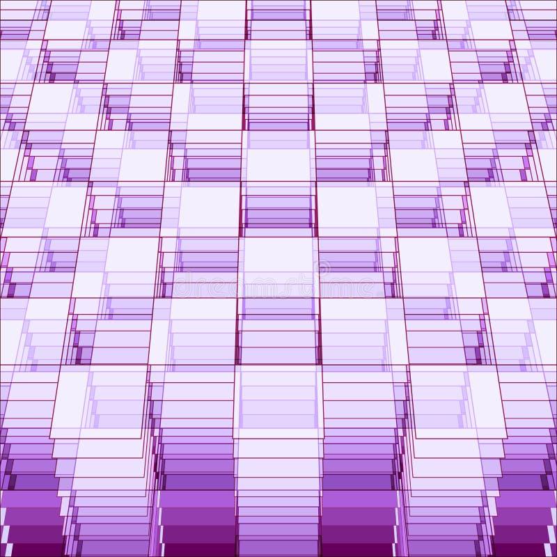Plantilla geométrica de la perspectiva ilustración del vector