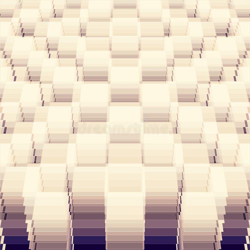Plantilla geométrica de la perspectiva stock de ilustración