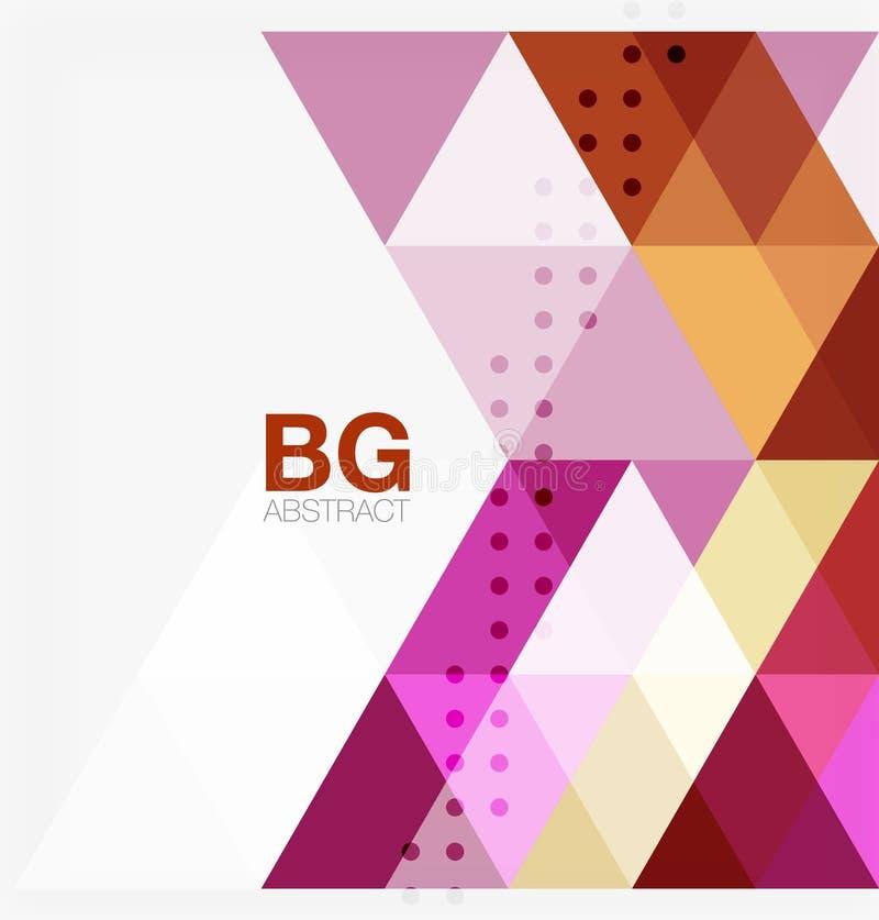 Plantilla geométrica del mosaico moderno del triángulo stock de ilustración