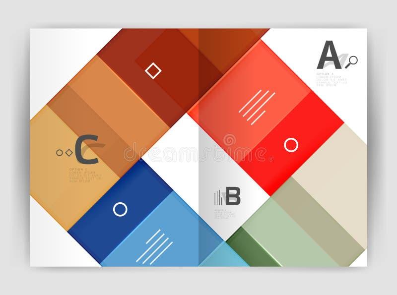 Plantilla geométrica del negocio del folleto a4 foto de archivo libre de regalías