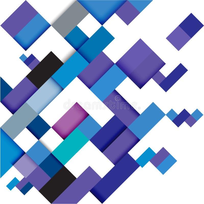 Plantilla geométrica moderna azul abstracta, ejemplo libre illustration