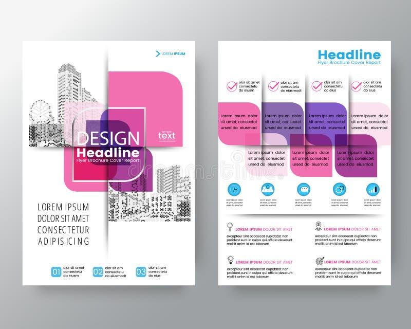Plantilla gráfica cruzada rosada abstracta de la disposición de diseño del cartel del aviador de la cubierta del folleto del vect libre illustration