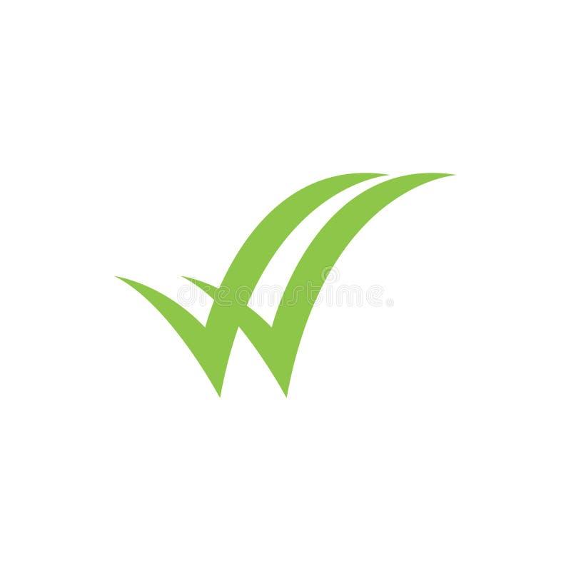 Plantilla gráfica del diseño del icono de la comprobación minuciosa stock de ilustración
