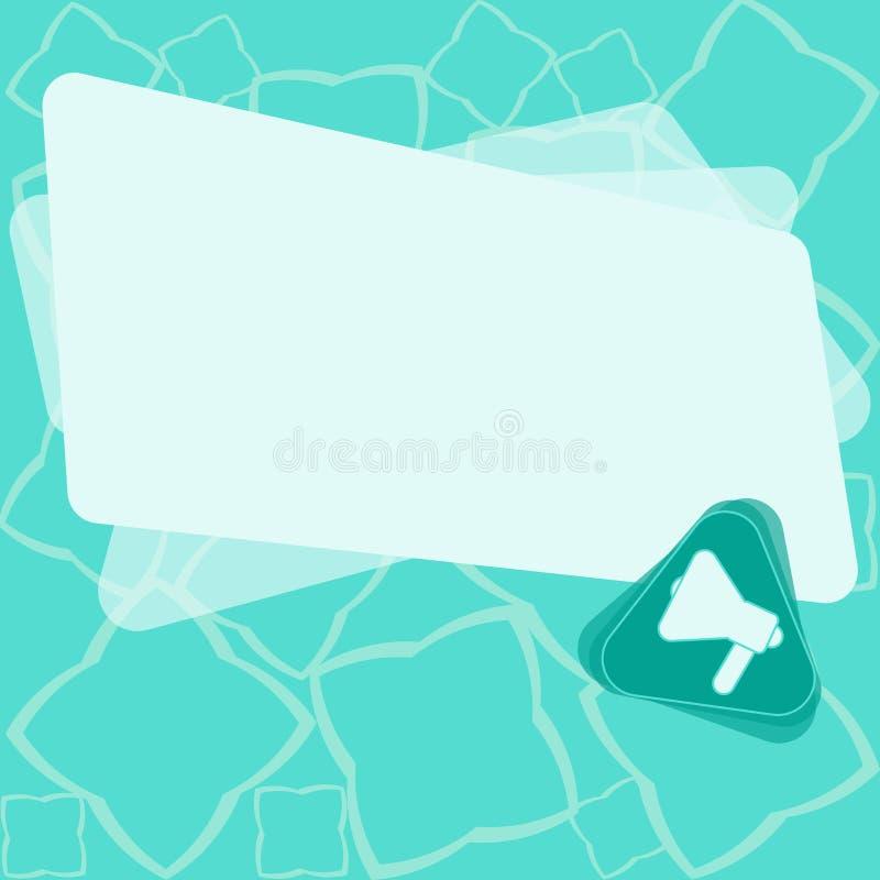 Plantilla gráfica minimalista aislada plantilla vacía de la disposición del negocio del diseño para hacer publicidad del megáfono ilustración del vector