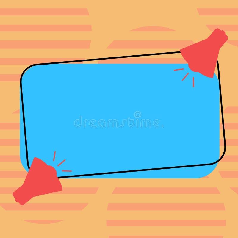 Plantilla gráfica minimalista aislada plantilla vacía de la disposición del negocio del diseño para hacer publicidad del megáfono libre illustration