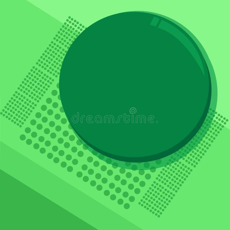 Plantilla gráfica minimalista vacía de la disposición de la plantilla del diseño del negocio del ejemplo plano del vector especia stock de ilustración