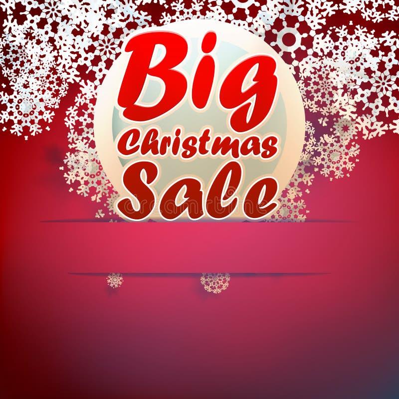 Plantilla grande de la venta de la Navidad. ilustración del vector