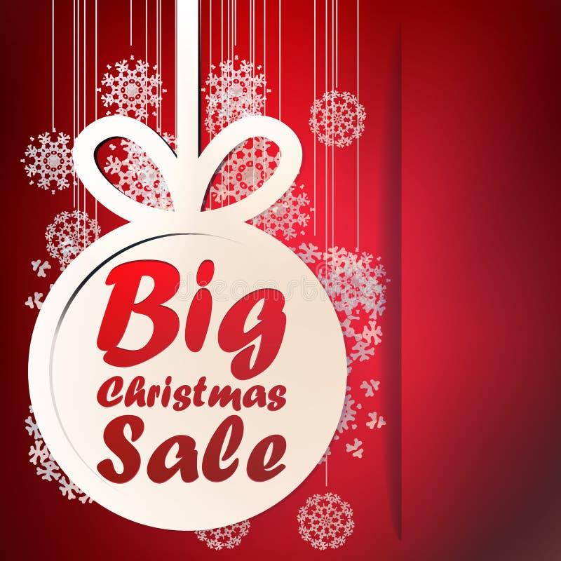 Plantilla grande de la venta de la Navidad. + EPS10 ilustración del vector