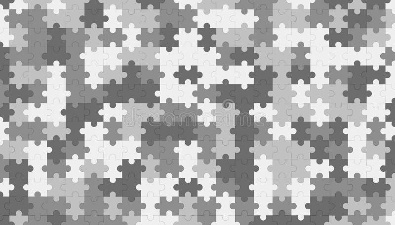 Plantilla gris del espacio en blanco del rompecabezas, fondo de la textura del modelo stock de ilustración