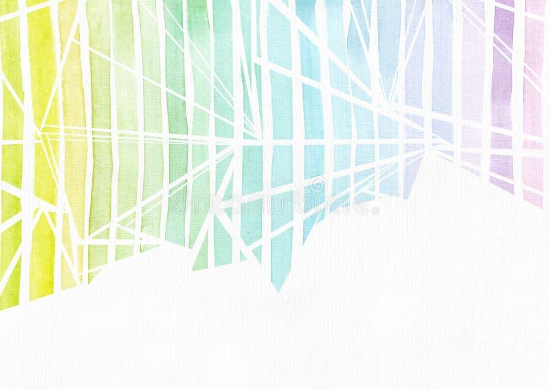 Plantilla horizontal simple con los triángulos handdrawn de la tinta hechos en estilo a pulso, con la textura de la pendiente de  libre illustration